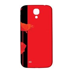 Flower Floral Red Back Sakura Samsung Galaxy S4 I9500/i9505  Hardshell Back Case