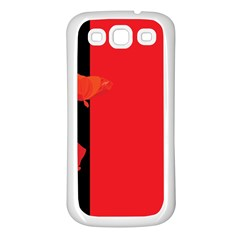 Flower Floral Red Back Sakura Samsung Galaxy S3 Back Case (white)