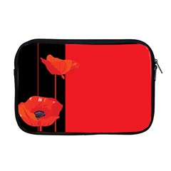 Flower Floral Red Back Sakura Apple Macbook Pro 17  Zipper Case