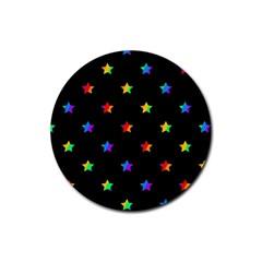 Stars pattern Rubber Round Coaster (4 pack)