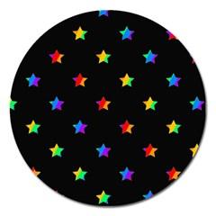 Stars pattern Magnet 5  (Round)