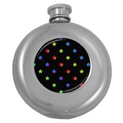 Stars pattern Round Hip Flask (5 oz)