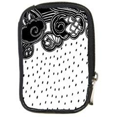 Batik Rain Black Flower Spot Compact Camera Cases