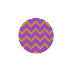 Zig zags pattern Golf Ball Marker (4 pack)