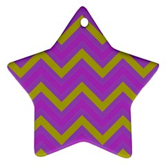 Zig zags pattern Star Ornament (Two Sides)
