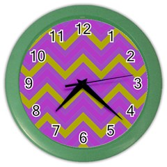 Zig zags pattern Color Wall Clocks