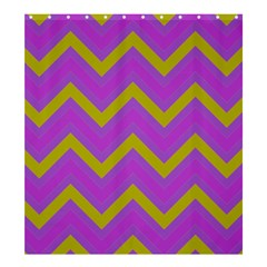 Zig zags pattern Shower Curtain 66  x 72  (Large)