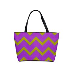 Zig zags pattern Shoulder Handbags