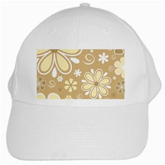 Flower Floral Star Sunflower Grey White Cap