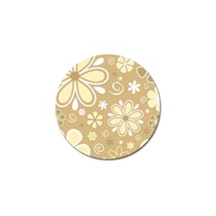 Flower Floral Star Sunflower Grey Golf Ball Marker