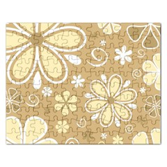 Flower Floral Star Sunflower Grey Rectangular Jigsaw Puzzl