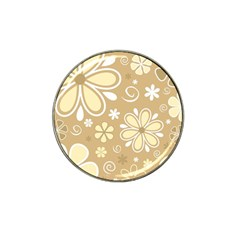 Flower Floral Star Sunflower Grey Hat Clip Ball Marker (4 Pack)