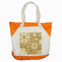 Flower Floral Star Sunflower Grey Accent Tote Bag