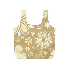Flower Floral Star Sunflower Grey Full Print Recycle Bags (s)