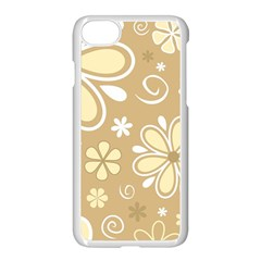 Flower Floral Star Sunflower Grey Apple Iphone 7 Seamless Case (white)