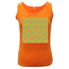 Zig zags pattern Women s Dark Tank Top