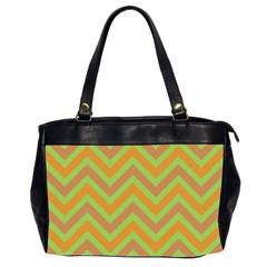 Zig zags pattern Office Handbags (2 Sides)