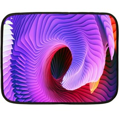 Digital Art Spirals Wave Waves Chevron Red Purple Blue Pink Fleece Blanket (mini)
