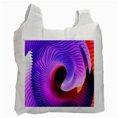 Digital Art Spirals Wave Waves Chevron Red Purple Blue Pink Recycle Bag (two Side)