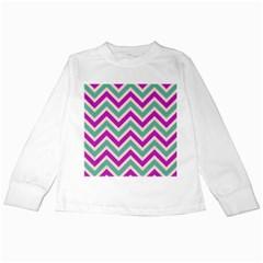 Zig zags pattern Kids Long Sleeve T-Shirts