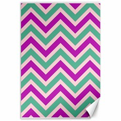 Zig Zags Pattern Canvas 12  X 18
