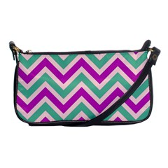 Zig zags pattern Shoulder Clutch Bags