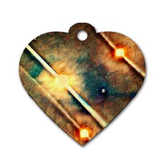 Light Space Dog Tag Heart (One Side)