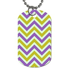 Zig zags pattern Dog Tag (One Side)