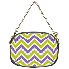 Zig Zags Pattern Chain Purses (two Sides)