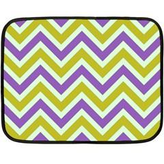 Zig zags pattern Fleece Blanket (Mini)