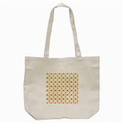 Flower Floral Sunflower Rose Star Red Green Tote Bag (cream)