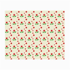 Flower Floral Sunflower Rose Star Red Green Small Glasses Cloth (2 Side)