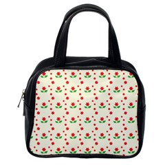 Flower Floral Sunflower Rose Star Red Green Classic Handbags (one Side)