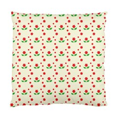 Flower Floral Sunflower Rose Star Red Green Standard Cushion Case (two Sides)