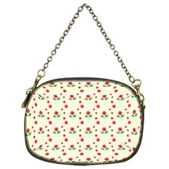 Flower Floral Sunflower Rose Star Red Green Chain Purses (two Sides)