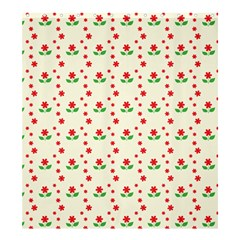 Flower Floral Sunflower Rose Star Red Green Shower Curtain 66  X 72  (large)