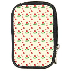 Flower Floral Sunflower Rose Star Red Green Compact Camera Cases