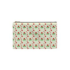 Flower Floral Sunflower Rose Star Red Green Cosmetic Bag (small)
