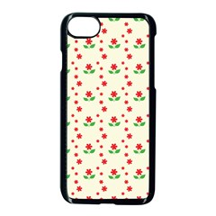Flower Floral Sunflower Rose Star Red Green Apple Iphone 7 Seamless Case (black)
