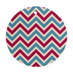 Zig zags pattern Ornament (Round)
