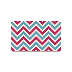 Zig zags pattern Magnet (Name Card)