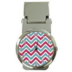 Zig zags pattern Money Clip Watches