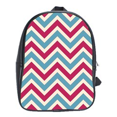 Zig zags pattern School Bags(Large)