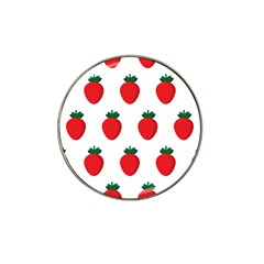 Fruit Strawberries Red Green Hat Clip Ball Marker (10 Pack)