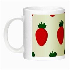 Fruit Strawberries Red Green Night Luminous Mugs