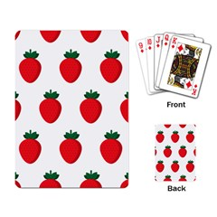 Fruit Strawberries Red Green Playing Card