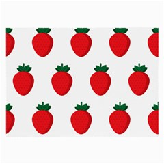 Fruit Strawberries Red Green Large Glasses Cloth (2 Side)