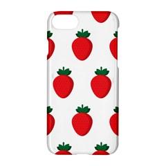 Fruit Strawberries Red Green Apple Iphone 7 Hardshell Case