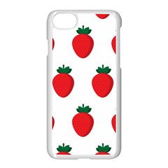 Fruit Strawberries Red Green Apple Iphone 7 Seamless Case (white)