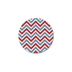 Zig zags pattern Golf Ball Marker (4 pack)